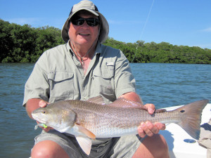 "Bill Beauchamp, from Bradenton, FL, caught and released a slam, which included a 24"", 5-pound trout and a 27"" red, on a CAL jig with a shad tail while fishing Sarasota Bay with Capt. Rick Grassett."