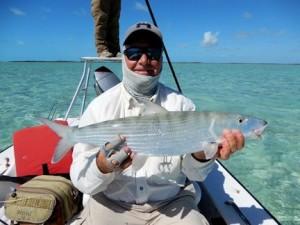 Kirk Grassett with a big Mars Bay bonefish.