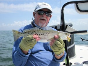 Bill Morrison, from Holmes Beach, with a Spanish mackerel that he caught and released on a Grassett Flats Bunny fly while fishing Sarasota Bay with Capt. Rick Grassett recently.